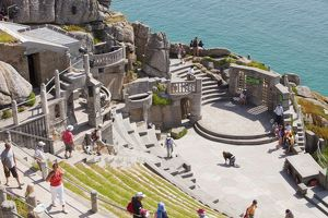 The Minack theatre at Porthcurno in Cornwall, UK