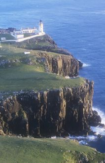 Neist Point lighthouse on the Isle of Skye, Scotland, UK