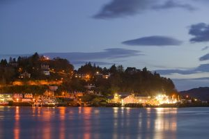 Oban Scotland at dusk