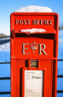 A postbox in snow UK